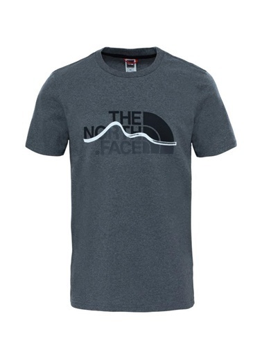 The North Face Mountain Line Erkek T-Shirt Gri Renkli